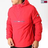 /achat-vestes/tommy-hilfiger-jeans-veste-outdoor-padded-popover-7121-rouge-191822.html