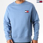 /achat-sweats-col-rond-crewneck/tommy-jeans-sweat-crewneck-badge-6592-bleu-clair-191928.html