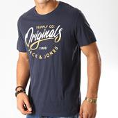 /achat-t-shirts/jack-and-jones-tee-shirt-mirror-bleu-marine-192008.html