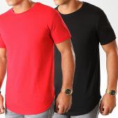 /achat-t-shirts-longs-oversize/lbo-lot-de-2-tee-shirts-oversize-934-rouge-et-noir-192044.html
