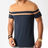 /achat-t-shirts/lbo-tee-shirt-bicolore-919-bleu-marine-camel-192045.html