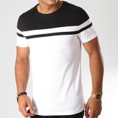 /achat-t-shirts/lbo-tee-shirt-bicolore-916-blanc-noir-192047.html