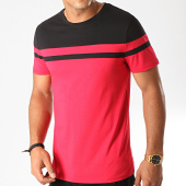 /achat-t-shirts/lbo-tee-shirt-bicolore-917-rouge-noir-192048.html