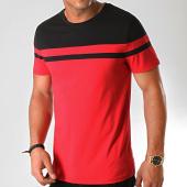 /achat-t-shirts/lbo-tee-shirt-bicolore-917-rouge-noir-192048.html