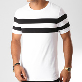 /achat-t-shirts/lbo-tee-shirt-avec-bandes-bicolore-911-noir-blanc-192049.html
