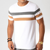 /achat-t-shirts/lbo-tee-shirt-avec-bandes-tricolore-904-anthracite-camel-blanc-192050.html