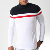 /achat-t-shirts-manches-longues/lbo-tee-shirt-col-roule-manches-longues-tricolore-889-blanc-bleu-marine-rouge-192055.html