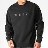 /achat-sweats-col-rond-crewneck/obey-sweat-crewneck-nouvelle-ii-noir-192016.html