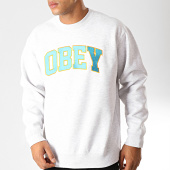 /achat-sweats-col-rond-crewneck/obey-sweat-crewneck-sports-gris-chine-192018.html