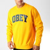 /achat-sweats-col-rond-crewneck/obey-sweat-crewneck-sports-jaune-192020.html
