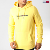 /achat-sweats-capuche/tommy-hilfiger-jeans-sweat-capuche-straight-logo-7030-jaune-191972.html