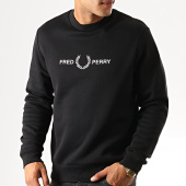 /achat-sweats-col-rond-crewneck/fred-perry-sweat-crewneck-graphic-m7521-noir-192237.html