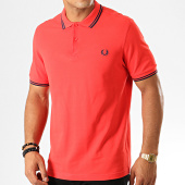 /achat-polos-manches-courtes/fred-perry-polo-manches-courtes-twin-tipped-m3600-rouge-192238.html