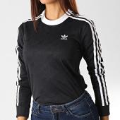 /achat-t-shirts-manches-longues/adidas-tee-shirt-manches-longues-femme-a-bandes-ed7481-noir-blanc-192332.html