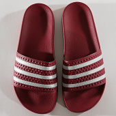 /achat-claquettes-sandales/adidas-claquettes-adilette-ee6184-bordeaux-argente-192421.html