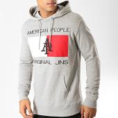 /achat-sweats-capuche/american-people-sweat-capuche-passy-gris-chine-blanc-rouge-noir-192378.html