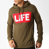 /achat-sweats-capuche/american-people-sweat-capuche-pillow-vert-kaki-rouge-blanc-192380.html