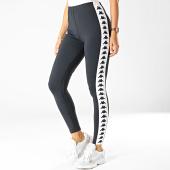 /achat-leggings/kappa-legging-femme-a-bandes-303wci0-noir-blanc-192392.html