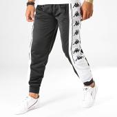 /achat-pantalons-joggings/kappa-pantalon-jogging-a-bandes-10-alenz-304lic0-noir-blanc-192396.html