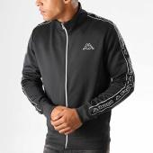 /achat-vestes/kappa-veste-zippee-a-bandes-logo-rezzo-304rva0-noir-blanc-192406.html
