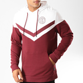 /achat-sweats-capuche/only-and-sons-sweat-capuche-wagner-bordeaux-blanc-192282.html