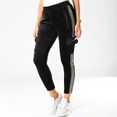 /achat-pantalons-joggings/project-x-pantalon-jogging-femme-velours-reflechissant-avec-bandes-f194057-noir-gris-192295.html