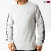 /achat-sweats-col-rond-crewneck/tommy-hilfiger-jeans-sweat-crewneck-a-bandes-0705-gris-chine-192299.html