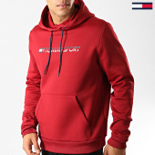 /achat-sweats-capuche/tommy-hilfiger-jeans-sweat-capuche-fleece-logo-0279-bordeaux-192317.html
