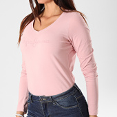 /achat-t-shirts-manches-longues/pepe-jeans-tee-shirt-slim-femme-manches-longues-mackenzie-rose-192672.html