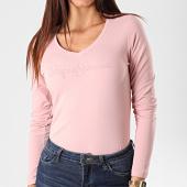 /achat-t-shirts/pepe-jeans-tee-shirt-slim-femme-manches-longues-mackenzie-rose-192672.html