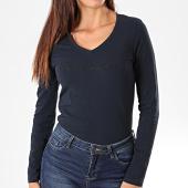 /achat-t-shirts/pepe-jeans-tee-shirt-slim-femme-manches-longues-mackenzie-bleu-marine-192675.html
