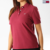 /achat-polos-manches-courtes/tommy-hilfiger-jeans-polo-manches-courtes-femme-classics-gmd-6884-bordeaux-192502.html
