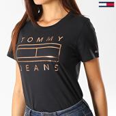 /achat-t-shirts/tommy-jeans-tee-shirt-femme-metallic-logo-7158-noir-cuivre-192505.html