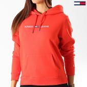 /achat-sweats-capuche/tommy-hilfiger-jeans-sweat-capuche-femme-clean-linear-logo-7344-rouge-192508.html