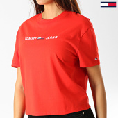 /achat-t-shirts/tommy-hilfiger-jeans-tee-shirt-femme-clean-linear-logo-7429-rouge-blanc-192517.html