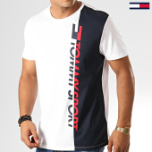 /achat-t-shirts/tommy-hilfiger-jeans-tee-shirt-logo-graphic-0192-blanc-bleu-marine-rouge-192522.html