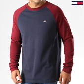 /achat-t-shirts-manches-longues/tommy-jeans-tee-shirt-manches-longues-raglan-6956-bordeaux-bleu-marine-192529.html