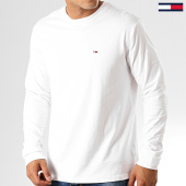 /achat-t-shirts-manches-longues/tommy-hilfiger-jeans-tee-shirt-manches-longues-classics-6959-blanc-192535.html