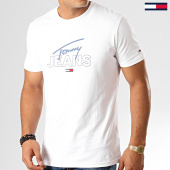 /achat-t-shirts/tommy-hilfiger-jeans-tee-shirt-script-logo-7011-blanc-192555.html