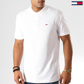 /achat-polos-manches-courtes/tommy-jeans-polo-manches-courtes-classics-solid-7196-blanc-192556.html