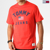 /achat-t-shirts/tommy-hilfiger-jeans-tee-shirt-usa-flag-7068-rouge-192557.html