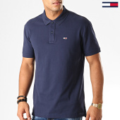 /achat-polos-manches-courtes/tommy-hilfiger-jeans-polo-manches-courtes-classics-solid-7196-bleu-marine-192558.html