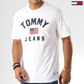 /achat-t-shirts/tommy-hilfiger-jeans-tee-shirt-usa-flag-7068-blanc-192559.html