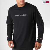 /achat-t-shirts-manches-longues/tommy-hilfiger-jeans-tee-shirt-manches-longues-small-logo-7190-noir-192560.html