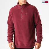 /achat-sweats-col-zippe/tommy-hilfiger-jeans-sweat-col-zippe-polar-fleece-mock-7037-bordeaux-192561.html