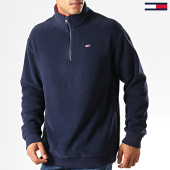 /achat-sweats-col-zippe/tommy-hilfiger-jeans-sweat-col-zippe-polar-fleece-mock-neck-7037-bleu-marine-192563.html