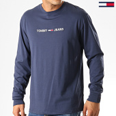 /achat-t-shirts-manches-longues/tommy-hilfiger-jeans-tee-shirt-manches-longues-small-logo-7190-bleu-marine-192566.html