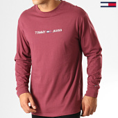 /achat-t-shirts-manches-longues/tommy-jeans-tee-shirt-manches-longues-small-logo-7190-bordeaux-192568.html