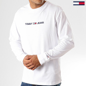/achat-t-shirts-manches-longues/tommy-hilfiger-jeans-tee-shirt-manches-longues-small-logo-7190-blanc-192570.html