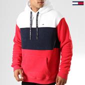 /achat-sweats-capuche/tommy-hilfiger-jeans-sweat-capuche-bold-stripe-7036-rouge-bleu-marine-blanc-192571.html